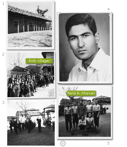Farid A. Khavari - photo montage from his youth